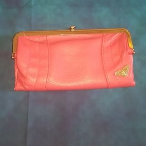 Roxy pink clutch